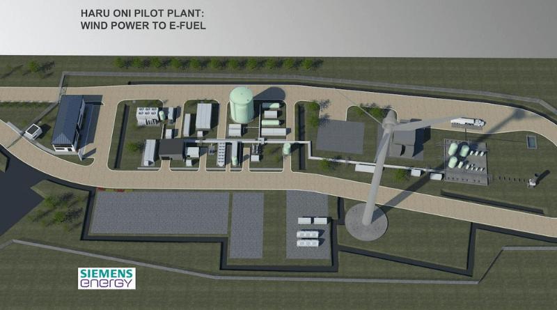 Şili'deki Haru Oni sentetik yakıt fabrikasının bir görüntüsü